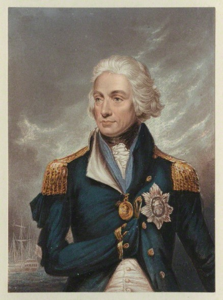 NPG D21490; Horatio Nelson by George Baxter, after  Lemuel Francis Abbott
